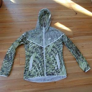 Nike windbreaker zip up hooded mesh women's M